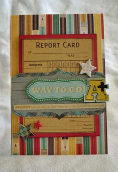 Way to Go *Fancy Pants Off to School* - Scrapbook.com - This is great! #scrapbooking #cardmaking #fancypantsdesigns