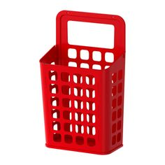 "IKEA Trash basket with rounded corners; easy to clean, attaches to wall - maybe in an RV!  Product dimensions  Length: 10 5/8 ""  Width: 6 1/4 ""  Height: 18 1/8 ""  Volume: 3 gallon"
