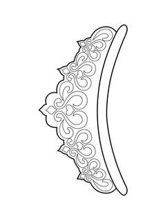 Mermaid Coloring Pages, Coloring Pages For Girls, Diy Tiara, Crown Drawing, Crown Template, Mermaid Drawings, Paper Crowns, Diy Crown, Printable Adult Coloring Pages