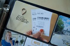 """a great way to include tickets without them """"fading"""" over time 