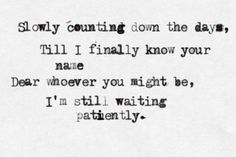 To Whom It May Concern- CIVIL WARS. One of my favorite songs.