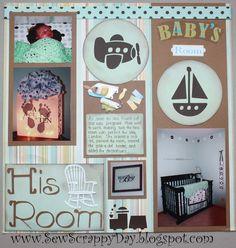 Baby's Room Scrapbook Layout