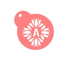 """Floral Letter Baking Stencil  Customized with your letter! Designed for a 3"""" diameter. Food Safe Plastic"""