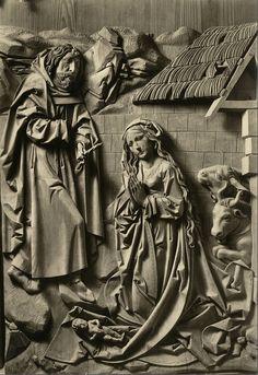 Tilman Riemenschneider, Narození Ježíše, Marian Alterpiece ,  Creglingen, Německo
