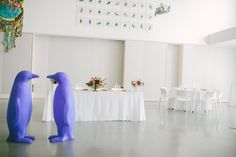 Still looking for your something blue? 21c Lexington can fix that! the Blue penguin would love to help you celebrate your day | 21c Weddings