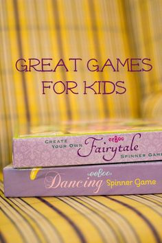 Great Games for Kids~These are great for the classroom or family game nights!