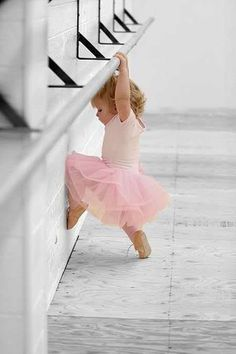 See, I can reach the bar! - tiny ballet dancer