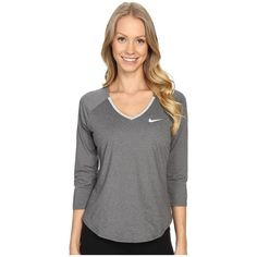 Nike Court Pure Tennis Top Women's Long Sleeve Pullover ($60) ❤ liked on Polyvore featuring activewear, activewear tops, long sleeve pullover, nike, nike pullover, nike activewear and sweater pullover