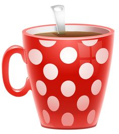 Red Dotted Coffee Cup PNG Clipart Picture