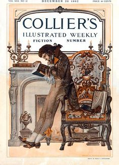 Frank X. Leyendecker cover illustration for Collier's, December 12, 1902. Special Fiction Number