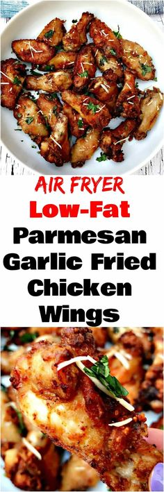 Air Fryer Garlic Parmesan Breaded Fried Chicken Wings