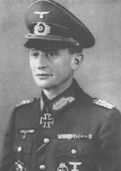 General der Panzertruppe Eugen Walter Krüger (23 March 1892 – 11 July 1973) Knight's Cross on 15 July 1941 as Generalmajor and commander of 1. Schützen-Brigade; 373rd Oak Leaves on 5 June 1944 as Generalleutnant and commander of 1. Panzer-Division