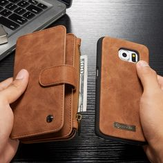 For Samsung s6 multi-function phone case set for the Galaxy s6 anti-lost phone case wallet bracket mobile phone bag