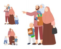 Discover thousands of Premium vectors available in AI and EPS formats Cute Couple Cartoon, Cartoon Kids, Safari Outfits, Romantic Couples Photography, Islamic Cartoon, Cute Muslim Couples, Muslim Family, Arab Girls Hijab, Anime Muslim
