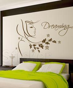 Just before you close yours eyes.... wallsticker.  Αυτοκόλλητα τοίχου για διακόσμηση στο υπνοδωμάτιο - σαλόνι.