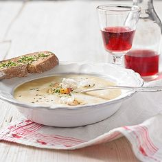 Camembert Cheese, Food And Drink, Soup, Pudding, Desserts, Soups And Stews, Food Portions, Chef Recipes, Food And Drinks
