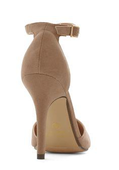 Dinner and Dancing Heel in Camel | Mod Retro Vintage Heels | ModCloth.com