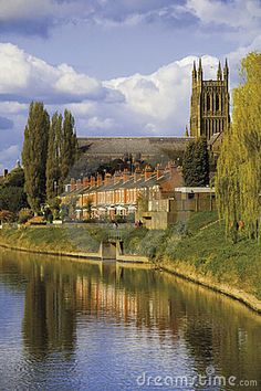 Worcester by Davidmartyn. Beautiful view of Worcester Cathedral as you cruise the River Severn. For holidays from Worcester Marina or Alvechurch Marina visit www.abcboathire.com