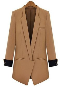 OL Style Women's Lapel Slimming Long Sleeve Blazer