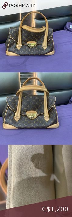 AUTHENTIC Louis Vuitton Monogram Beverly GM Bag This is a brown monogram coated canvas Louis Vuitton Beverly GM shoulder bag with vachetta leather trim and brass hardware. This bag is in pretty good condition ,I have worn this a good amount of times. There's also no stains Louis Vuitton Bags Shoulder Bags White Louis Vuitton, Louis Vuitton Speedy 30, Vintage Louis Vuitton, Louis Vuitton Monogram, Micheal Kors Handbag, Handbags Michael Kors, Louis Vuitton Neverfull Damier, Brass Hardware, Authentic Louis Vuitton