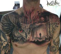 125 Best Owl Tattoos For Men: Cool Designs + Ideas Guide) Eagle Tattoos, Wolf Tattoos, Animal Tattoos, Body Art Tattoos, Girl Tattoos, Sleeve Tattoos, Tattoos For Guys, Arabic Tattoos, Dragon Tattoos