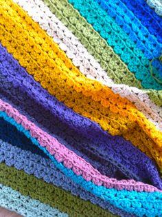 Multicolour crochet blanket / babydeken haken