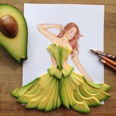 "EdgaR_ArtiS on Instagram: ""Avocado dress  hope you like it guys it was so hard to do ...... #fashion #fashionista #fashionblogger #fashionable #fashiondiaries #fashionweek #fashionstyle #fashiondesigner #fashiondesign #fashionillustration #fashionillustrator #illustration #illustrator #art #artist #artwork #women #womensfashion #igers #picoftheday #love #like4like #drawing #girl #follow #followme #Armenia"""