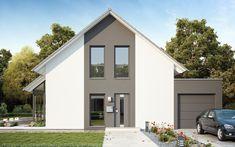 Drei Varianten - Ein Haus Auf rund 123 m² bietet das LifeStyle 14.04 S viele Möglichkeiten zur Umsetzung der eigenen Wohnwünsche. Besonderes Highlight: Dieser Grundriss kann mit drei verschiedenen Dachvarianten, Satteldach, Flachdach und Walmdach, umgesetzt werden. Schauen Sie doch gerne einmal bei unserem LifeStyle 14.04 F oder dem LifeStyle 14.04 W vorbei. Style At Home, Outdoor Kitchen Patio, Outdoor Decor, Garage Doors, Shed, Outdoor Structures, Mansions, House Styles, Jay