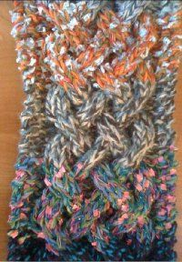 Celtic Cable Scarf - I think this will be my 2nd cable project but with a solid color yard so the cables show better.