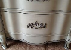 pictures of vintage french interiors | vintage french provincial dresser paris grey silver f 1024x721 Vintage ...