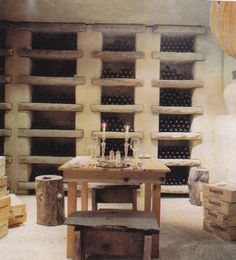 Old world wine cellar