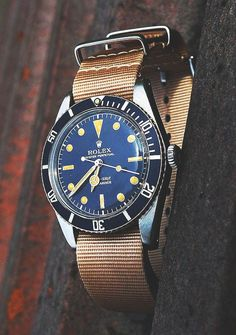 Vintage Canvas Oyster Perpetual Rolex Watch