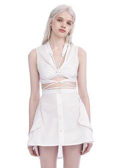 ALEXANDER WANG EXCLUSIVE DECONSTRUCTED SHIRT DRESS Long dress Adult 12_n_e