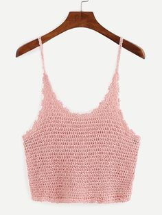 Crop+Crochet+Cami+Top+-+Pink+12.99
