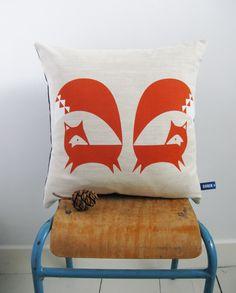 Fox Cushions - Orange - Lifestyle