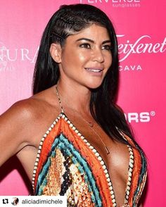"""#Repost @aliciadimichele (via @repostapp)  Had such an amazing time last night at the @okmagazine So Sexy Party Hair: @jsmall_hair Makeup: @labra5 @aliciadimicheleboutique  The Boss looking absolutely stunning last night in her ADBoutique """"Skylar Maxi Dress""""!  SHOP: http://ift.tt/1rNgIir CODE: """"FREESHIP"""""""