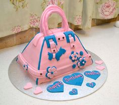 Funky Handbag cake by Allison Carter