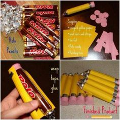 These Rolo Chocolate Candy Pencils would make a fantastic Party Favour or a Back to School gift for a favourite teacher!