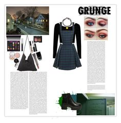 """""""Grunge"""" by silly-stegosaurus ❤ liked on Polyvore featuring Boohoo, Nails Inc., TheBalm, NARS Cosmetics, Anastasia Beverly Hills, Urban Decay and Oris"""