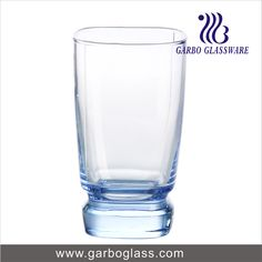 Blue material machine blowing glass tumbler for home using for water drinking
