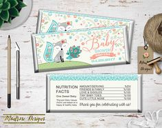 Baby Fox Candy Bar Wrapper, Baby Shower Candy Bar Wrapper, Chocolate Bar Wrapper, Hershey bar Wrapper, Baby Fox Party Favor DIGITAL FILE