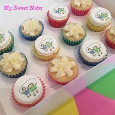 My Sweet Sister - custom vanilla mini cupcake order for a preschool open day. Kindergarten, vanilla buttercream, kids, school, Melbourne