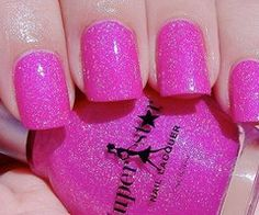 Pink jelly and micro glitter