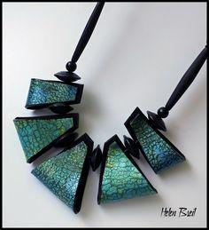 New Work - folded beads August 2017 Helen Breil