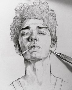 The Secrets Of Drawing Realistic Pencil Portraits - . Secrets Of Drawing Realistic Pencil Portraits - Discover The Secrets Of Drawing Realistic Pencil Portraits Face Sketch, Drawing Sketches, Art Sketches, Art Drawings, Drawing Faces, Boy Sketch, Drawing Style, Drawing Art, Drawing Ideas