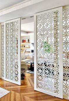 best interior sliding doors design ideas to inspire you page 28 Sliding Door Design, Wooden Door Design, Wooden Doors, Sliding Doors, Best Interior, Home Interior Design, Interior Styling, Jaali Design, Unique Doors