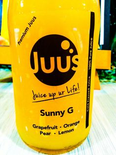 "why we named it as ""Sunny G""?  Don't you see the colour of this juice represent  a Sunny day.  Cheers up with  Sunny G!"