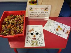 All about me pasta faces Sensory table for first day? All About Me Eyfs, All About Me Topic, All About Me Crafts, All About Me Art, First Day Activities, Eyfs Activities, Nursery Activities, Classroom Activities, All About Me Activities For Preschoolers