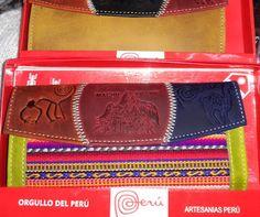 Billeteras andinas en Lima bolsos, cartera, monederos, llaveros artesanía Peruana en cuero y manta de exportación hechos a mano por maestros artesanos de Cusco realizado en cuero y manta típica de la región. https://www.facebook.com/KuzkaPeruvianHandicrafts