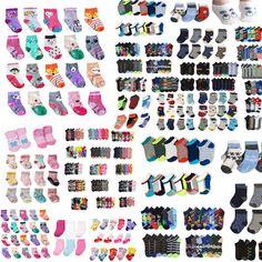 Newborn Baby Toddler Girl Mix Assorted Design Color Ankle Socks Lot 0-12 2-3 4-6